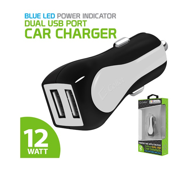 CAR CHARGER POWER ADAPTER CELLET (WHITE)