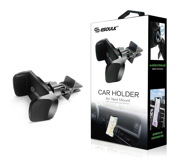 CAR PHONE HOLDER AIR VENT EH03P ESOULK (BLACK)