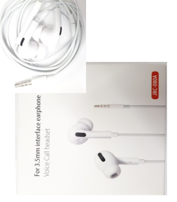 HEADSET LIGHTNING JBC-080A for Iphone 5/6 (WHITE)
