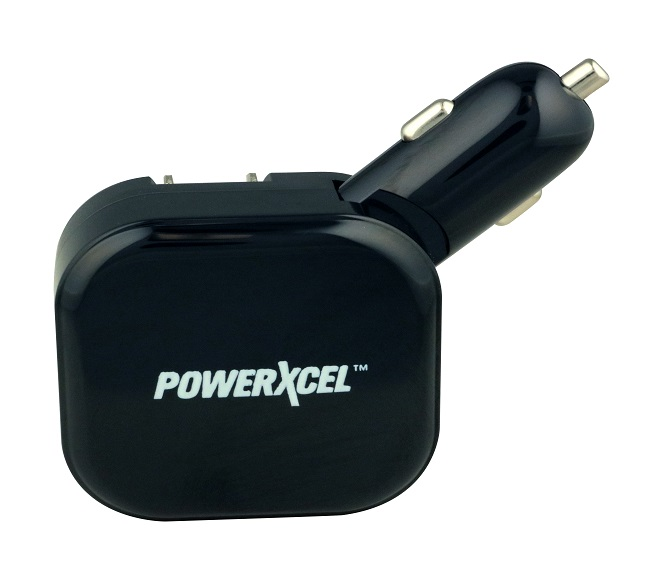 CAR CHARGER AND HOME POWER ADAPTER BLACK POWERXCEL