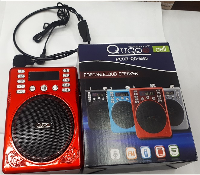 BLUETOOTH SPEAKER QB-802 QUGO (RED)