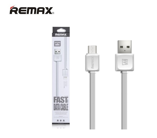 CABLE DATA and FAST CHARGER MICRO USB REMAX (WHITE)