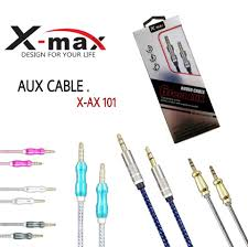 AUXILIARY AUDIO CABLE 6FT 3.5MM to 3.5MM PLUG ALUMINUM GOLD X-MA