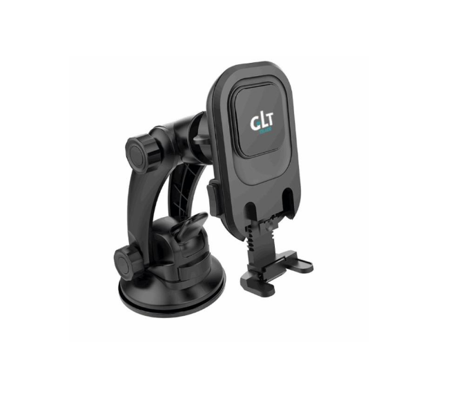 CAR PHONE HOLDER DASHBOARD/WINDSHIELD MAGNETIC (BLACK)