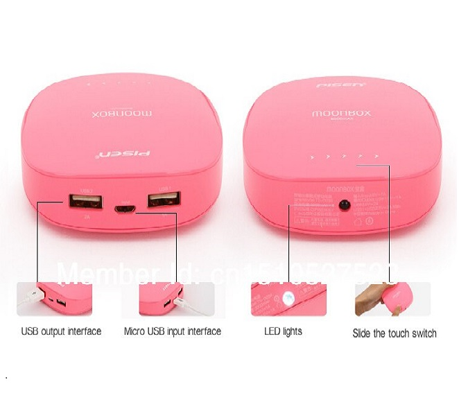 POWER BANK PISEN 3000mAh (SILVER, YELLOW, PINK, ROSEPINK)