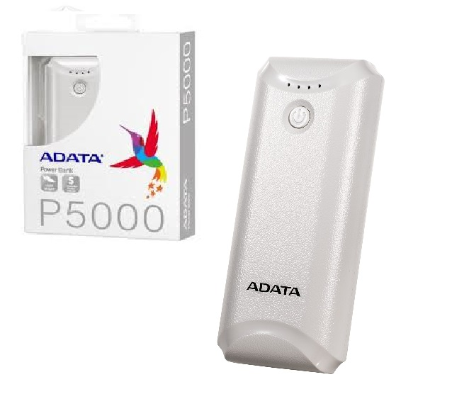 POWER BANK ADATA 5000mAh WHITE