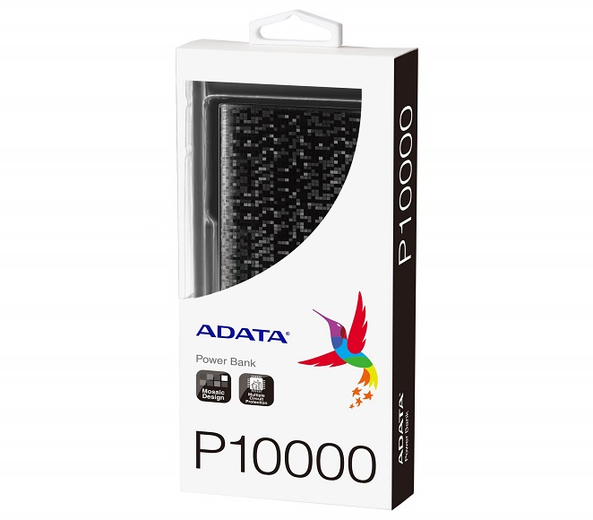 POWER BANK ADATA 10000mAh MOSAIC BLACK