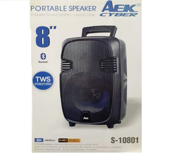 SPEAKER BLUETOOTH S-10801 BLACK