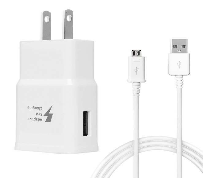 HOME ADAPTER COMBO MICRO USB WHITE SAMSUNG ORIGINAL